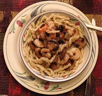 Serve on bed of pasta
