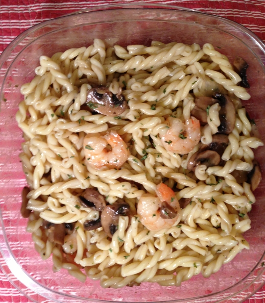 Serve with pasta mixed in