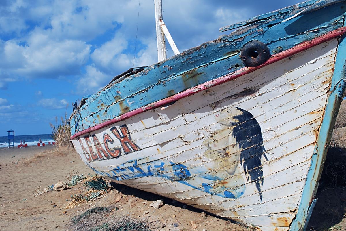 Crete Beach Boat