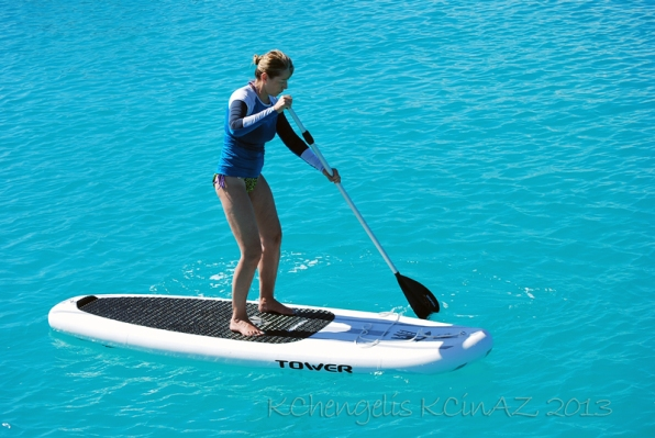 Mastering the paddle board