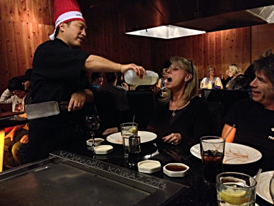 Here I am getting my fill of Saki