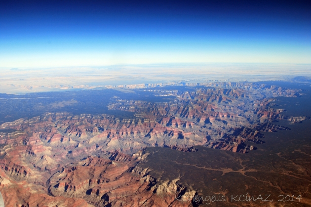 Grand Canyon from 35000 Ft.