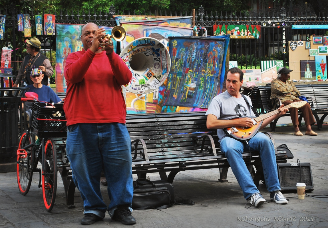 Trumpet Player at Jackson Square