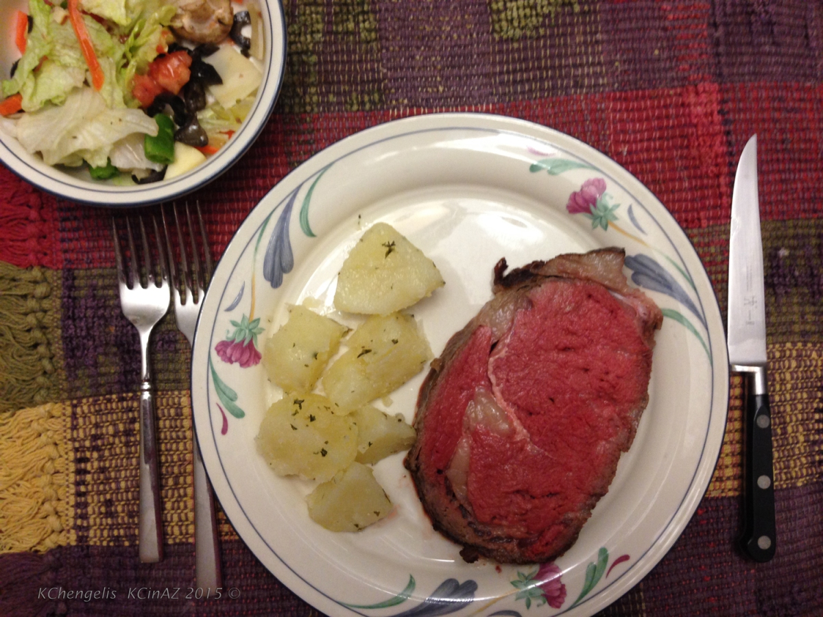 What's for Dinner:  Smoked New York Steak Roast